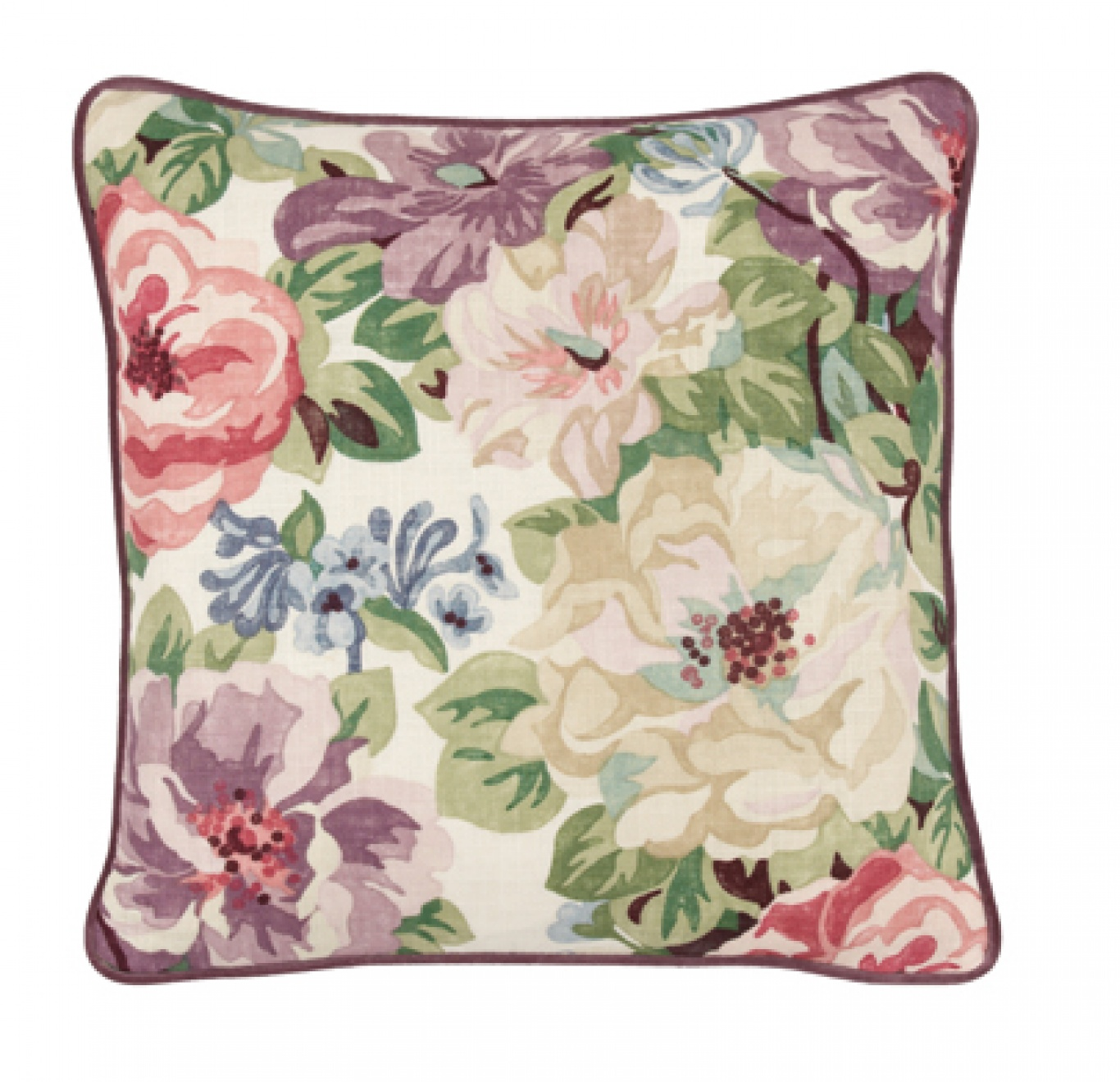 Image of Sanderson Midsummer Rose - Lilac Cushion